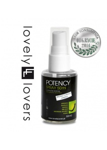 Spray wzmacniający erekcję - Lovely Lovers POTENCY Spray 50ml STRONG FORMULA + ENERGY