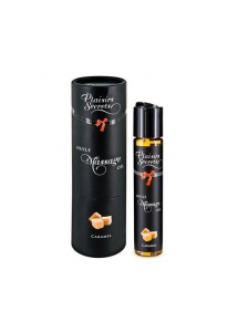 Olejek do masażu z kulką - Plaisirs Secrets Massage Oil  Karmel