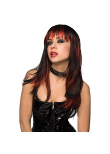 Peruka Pleasure Wigs - model Courtney Wig Black with Burnt Red