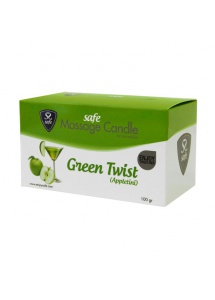 Świeca do masażu - Safe Massage Candle Green Twist Appletini jabłka