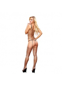 Bodystocking - Lapdance Crotchless Fencenet Bodystocking Black