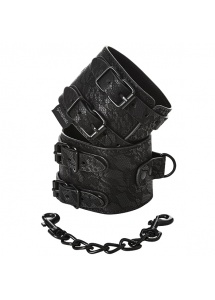Solidne Kajdanki ozdobne - Sportsheets Sincerely Lace Double Strap Handcuffs