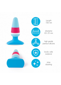 Korek analny - FeelzToys Plugz Butt Plug Colors Nr. 1