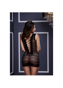 Koszulka w stylu gorsetu - Baci Ultra Corset Lace Up Cut Out Mini Dress