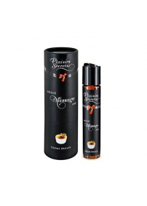 Olejek do masażu z kulką - Plaisirs Secrets Massage Oil  Creme Brulee
