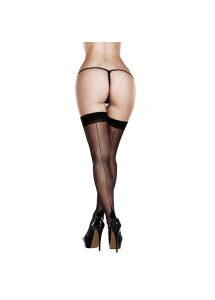 Pończochy – Baci Sheer Cuban Heel Thigh Highs