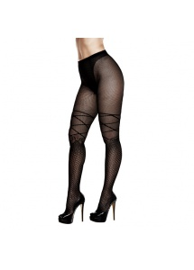 Rajstopy – Baci Ribbon and Bow Jacquard Pantyhose