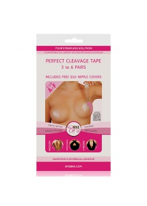 Taśma do modelowania piersi - Biust od A do F - Bye Bra Perfect Cleavage Tape - Cieliste - 9 par