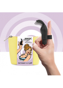 Wibrator na palec - FeelzToys Magic Finger Vibrator Czarny