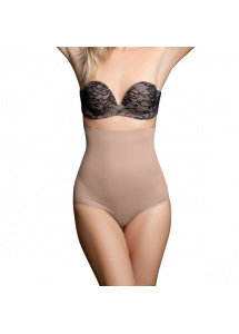 Wysokie figi modelujące - Bye Bra Invisible High Waist Brief Nude L
